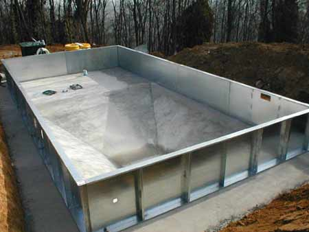 Piscine in acciaio prefabbricato piscine interrate e - Piscine interrate in acciaio ...
